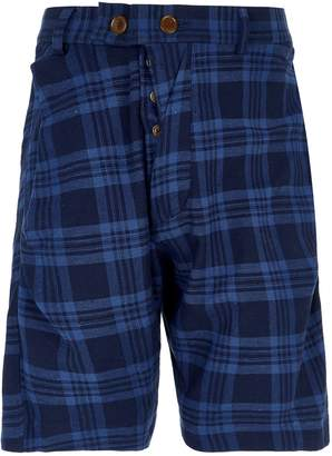 Vivienne Westwood Tartan Alcoholic Cotton Shorts