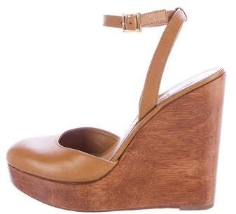 Tory Burch Tory Burch Leather Platform Wedges