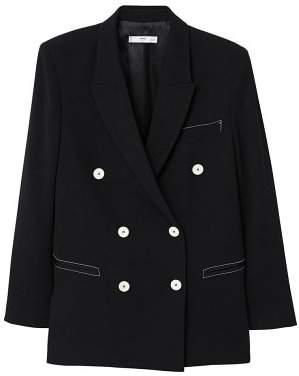 MANGO Contrast seam blazer