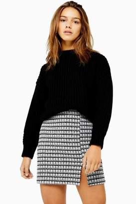 Topshop Womens Petite Recycled Crew Jumper - Black