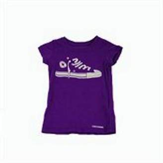 Converse Girls Purple T Shirt Avalable Sizes 4-6-7 Years