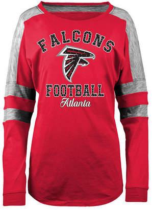 5th & Ocean Women's Atlanta Falcons Space Dye Long Sleeve T-Shirt