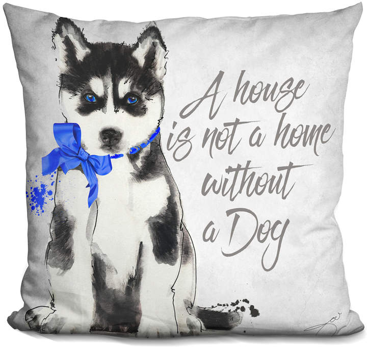 By Jodi A Home Is Not a Home Husky Throw Pillow