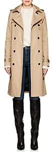 Saint Laurent Women's Twill Belted Trench Coat-Beige, Tan