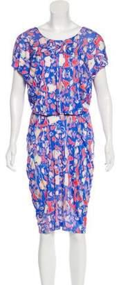 Saloni Printed Knee-Length Dress