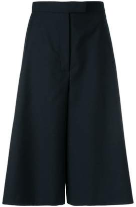 Thom Browne Button Vent High-waisted Wool Culotte