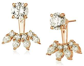 438a05458 at Amazon.co.uk · Swarovski La Lumiere Rose Gold Plated Sterling Silver  Zirconia Fashion Forward Earring Jackets