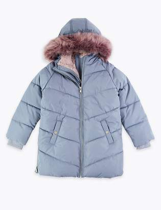 Marks and Spencer Faux Fur Lined Padded Coat (3-16 Years)