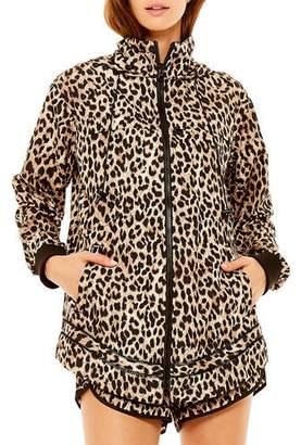 The Upside Ash Leopard-Print Hooded Jacket