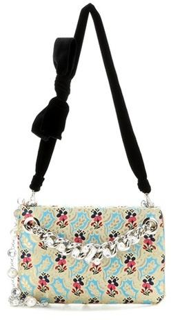 Miu MiuMiu Miu Embellished brocade shoulder bag