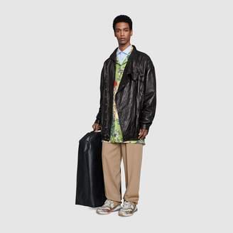 Gucci Oversize printed silk bowling shirt
