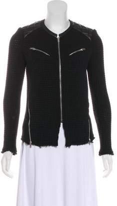 IRO Ceylona Leather-Trimmed Jacket