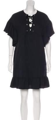 Ulla Johnson Ruffle-Accented Midi Dress