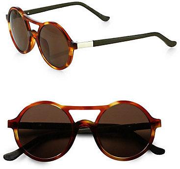 The Row Round Tortoiseshell Acetate Sunglasses