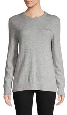 Saks Fifth Avenue BLACK L'Amour Embroidered Sweater