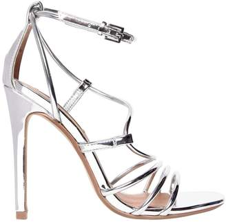 e0b6bdc413f at Luisaviaroma · Steve Madden 100mm Smith Metallic Faux Leather Sandal