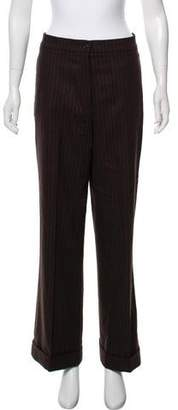 Luciano Barbera Wool High-Rise Pants