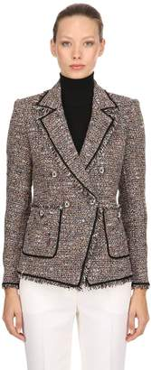 Veronica Beard Theron Fringed Tweed Blazer