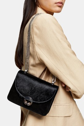 Topshop CASSIDY Black Leather Cross Body Bag