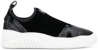 Just Cavalli panelled slip-on platform sneakers