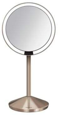 Simplehuman Rose Goldtone Mini Sensor Mirror with Travel Case - 10x Magnification