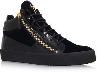 Giuseppe Zanotti Velvet Mix Mid-Top Sneakers