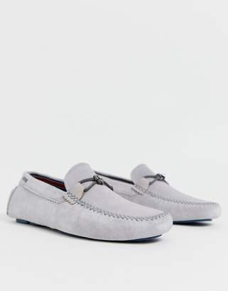 Ted Baker Catens drivers in grey suede