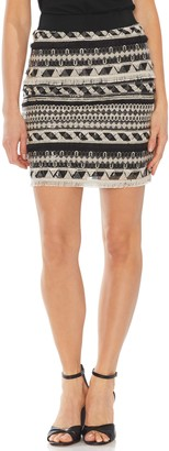 Vince Camuto Embroidered Stripe Miniskirt