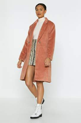 Nasty Gal Forget What You Belt Longline Coat