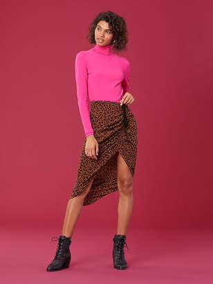 Diane von Furstenberg Crepe Ruched Pencil Skirt