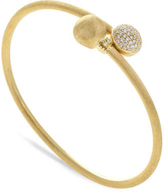 Marco Bicego 18k Gold Africa Diamond Pavé Bangle