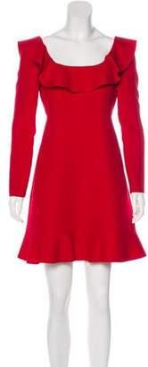Valentino Long Sleeve Ruffled Mini Dress