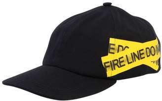 Off-White Fire Line Tape Canvas Baseball Hat