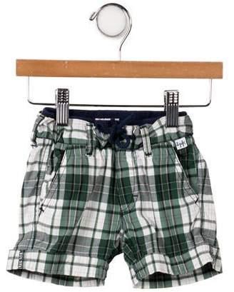 Il Gufo Boys' Plaid Knee- Length Shorts