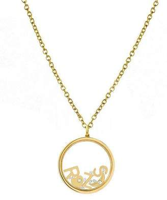 Zoe Lev Jewelry 14k Personalized Shaker Pendant Necklace w/ Diamonds
