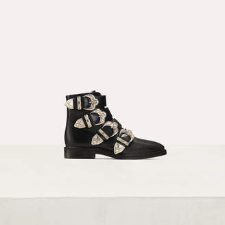 Maje Multi-strap leather booties