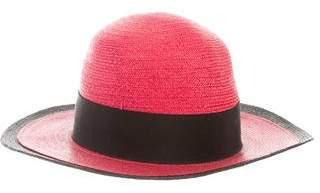 Valentino Woven Wide-Brim Hat