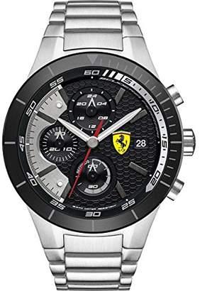 Ferrari Men's 0830263 REDREV Evo Stainless Steel Bracelet Watch with Black Dial