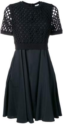 Kenzo black loose knit dress