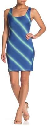 Blvd Striped Sleeveless Bodycon Dress
