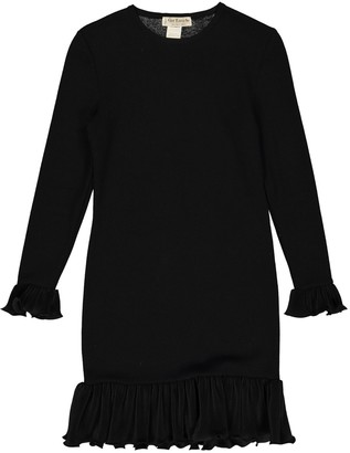 Guy Laroche Black Wool Dress for Women Vintage
