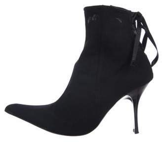 Giuseppe Zanotti Fabric Ankle Boots Black Fabric Ankle Boots