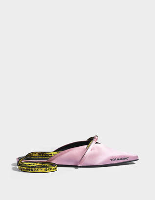 Off-White For Walking Slippers in Pink Silk