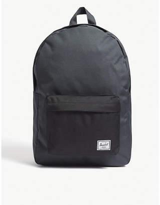 Herschel Dark shadow Grey and Black Woven Classic Canvas Backpack