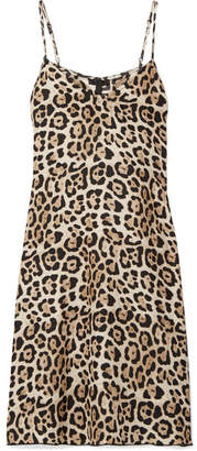 ATM Anthony Thomas Melillo Leopard-print Silk-charmeuse Mini Dress