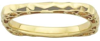 Stackable Expressions Sterling Silver Polished Cr.R Heart Ring