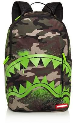 Sprayground Camo-Print Glow in the Shark Backpack