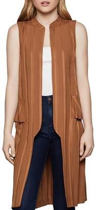 BCBGeneration Lace-Up Long Peplum Vest