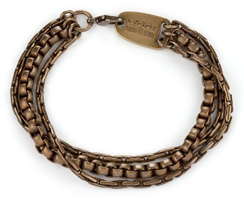 Elizabeth and James Triple Strand Bracelet