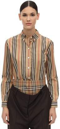 Burberry Striped Cotton Poplin Shirt